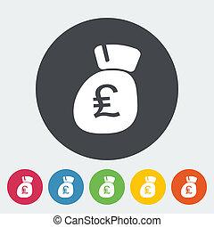 Pound sterling flat icon.