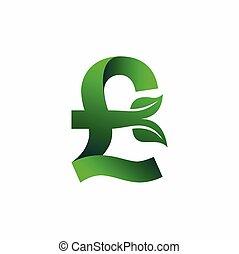 Pound sterling Green logo