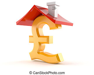 Pound symbol with roof