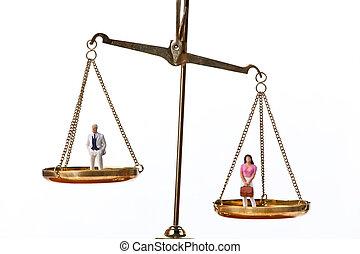 poupées, équilibrage, balances