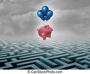 poupança, apoio financeiro