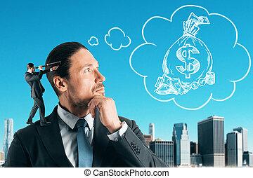 poupança, conceito, renda