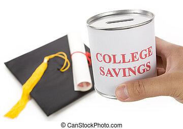 poupança, faculdade
