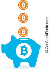 poupar, bitcoin
