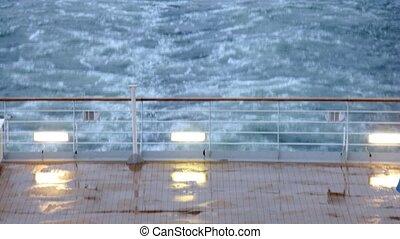 poupe, défaillance, après, bateaux, pluie, au-dessus, temps, vue