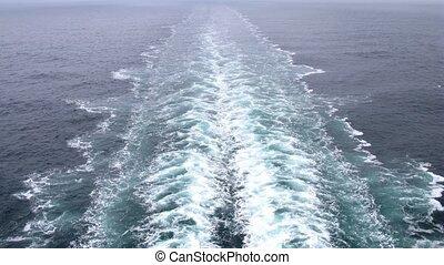poupe, devant, mousse, paquebot, croisière, aller, bateau, ...