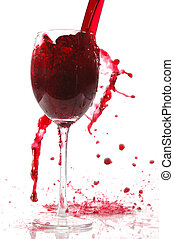 pour wine into glass - pour red wine into glass