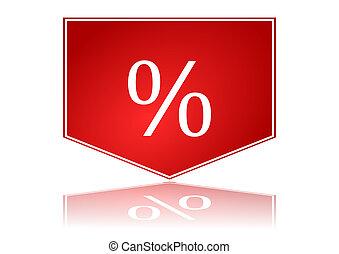 pourcentages, flèche rouge
