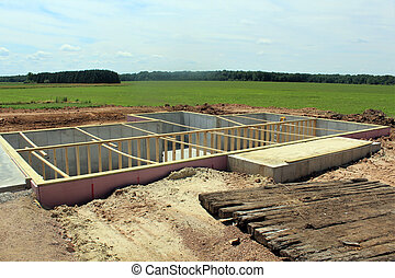 poured basement ready for a house