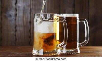 Pouring Beer In The Glass (Mug).