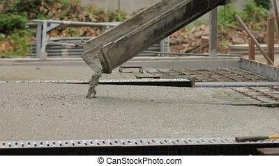 Pouring Building Foundation - Pouring concrete foundation...