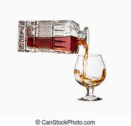 Pouring cognac