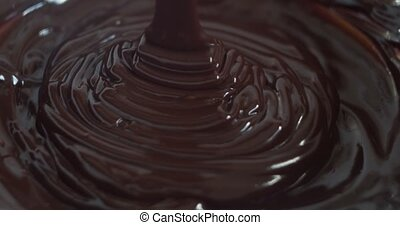 Pouring Premium Melted Chocolate.