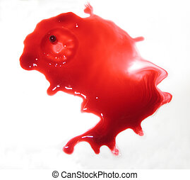 Pouring red liquid