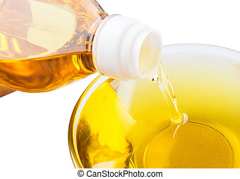 Pouring Vegetable Cooking Oil - Pouring vegetable cooking...