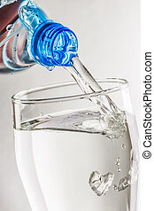 Pouring water from bottle