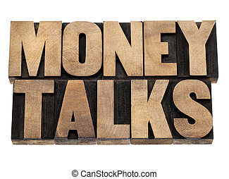 pourparlers, argent, type, bois