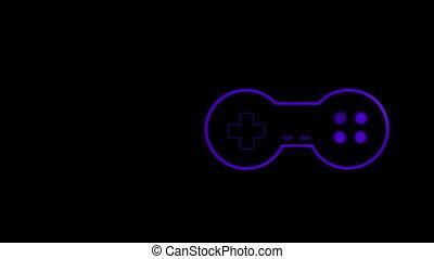 pourpre, animation, jeu, logo, vidéo