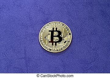 pourpre, arrière-plan., bitcoin, numérique