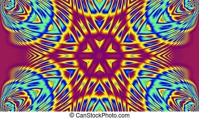 pourpre, bleu, jaune, kaléidoscope