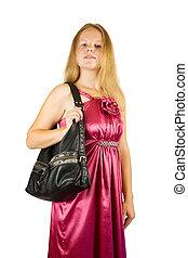 pourpre, bourse, girl, robe