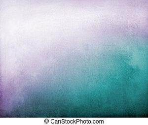 pourpre, brouillard, vert