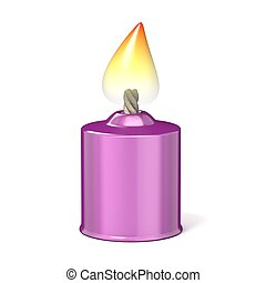 pourpre, candle., 3d