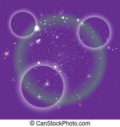 pourpre, cercle, étoile, fond