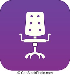 pourpre, chaise, icône, bureau, numérique