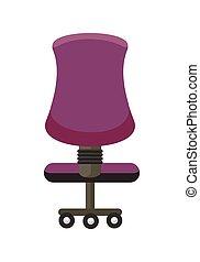 pourpre, chaise, icon., bureau