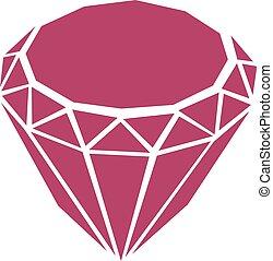 pourpre, diamant