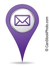 pourpre, emplacement, courrier