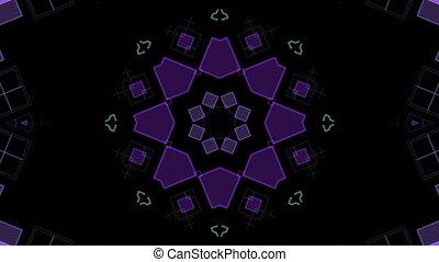 pourpre, formes, géométrique, en mouvement