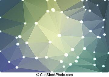 pourpre, gris, jaune, lumières, fond, géométrique