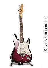pourpre, guitare, électrique