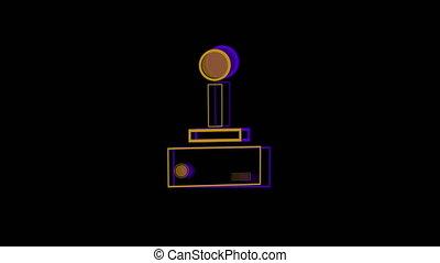 pourpre, jaune, animation, jeu, logo, vidéo