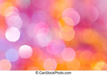 pourpre, lumières, lilas, defocus, fond