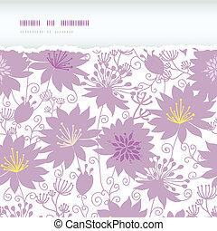 pourpre, modèle, déchiré, seamless, florals, fond, ombre, horizontal