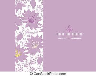 pourpre, modèle, seamless, florals, fond, ombre, horizontal