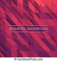 pourpre, mosaïque, géométrique, orange, résumé, illustration...