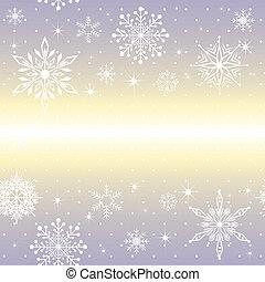 pourpre, noël, fond, flocon de neige