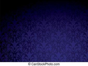 pourpre, papier peint, gothique