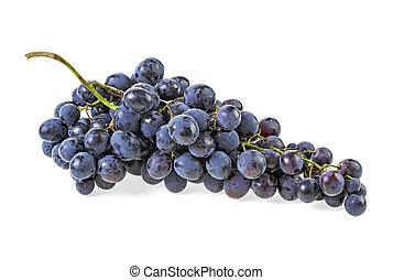 pourpre, raisin blanc, isolé, fond