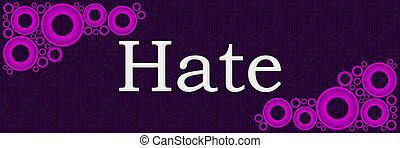 pourpre, rose, anneaux, haine