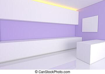 pourpre, salle, cuisine