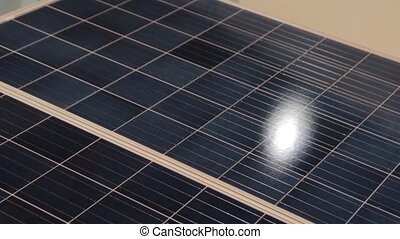 poursuite, closeup, panneau solaire