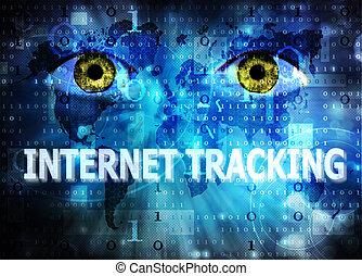 poursuite, internet
