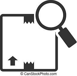 poursuite, -, paquet, bw, icônes