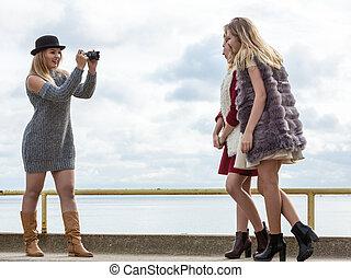 pousse, photo, modèles mode