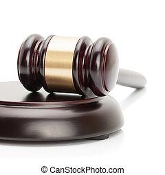 pousse, proportion, caisse de résonnance, -, isolé, 1, juge, studio, fond, marteau, blanc